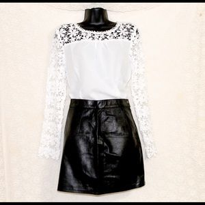 white lace blouse new